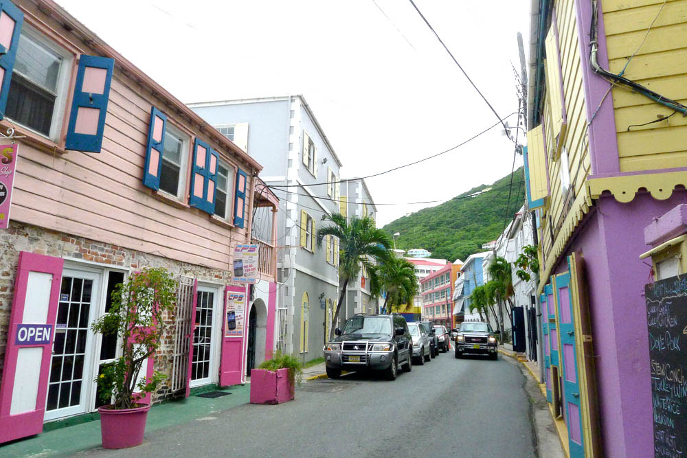Streets of Road Town, British Virgin Islands